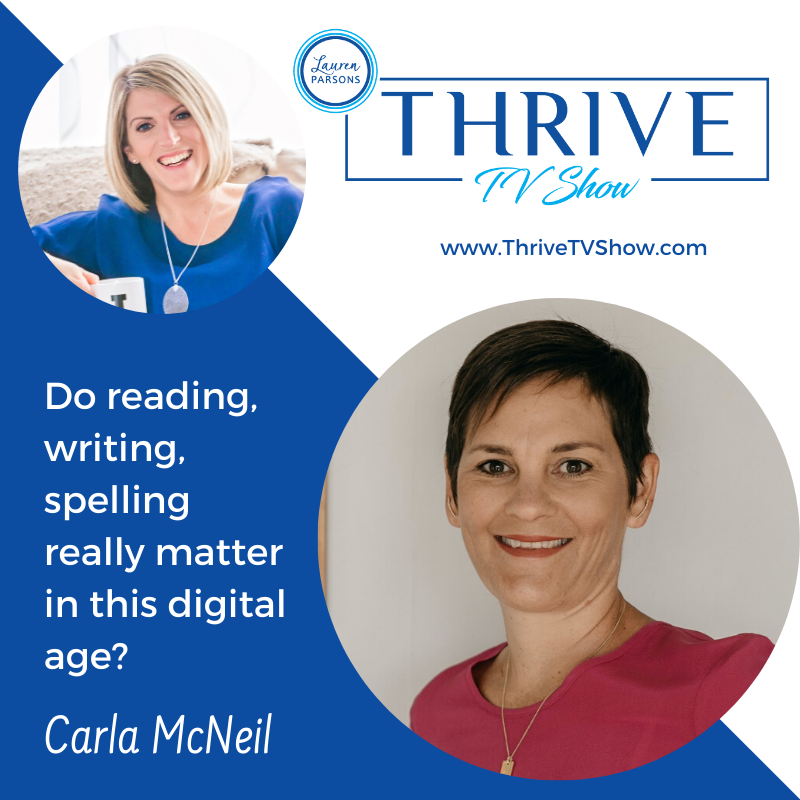 Lauren Parsons Wellbeing Specialists Thrive TV Show Podcast Carla McNeil