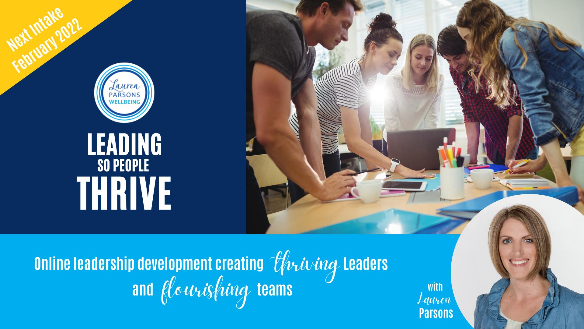 Leadership Training Health and Wellbeing Lauren Parsons