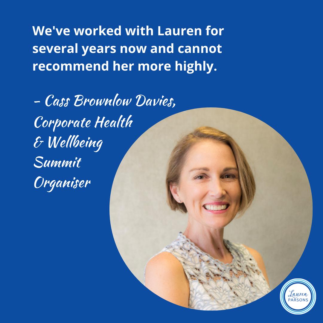 Lauren Parsons Wellbeing Specialist